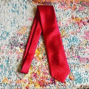 David Taylor Men's Red Silky Tie